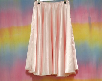 90s Vintage Pastel Pink Full Skirt High Waisted Vtg 1990s XXS-XS
