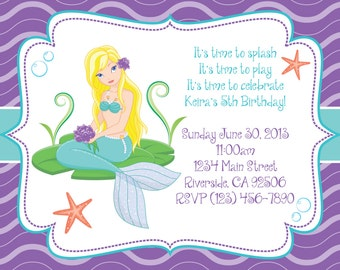 Mermaid Theme Invitation