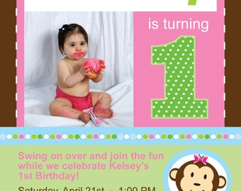 Baby's 1st Birthday Invitation & Thank You Card