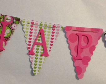 Happy Birthday Banner, Party Decorations, Birthday Party