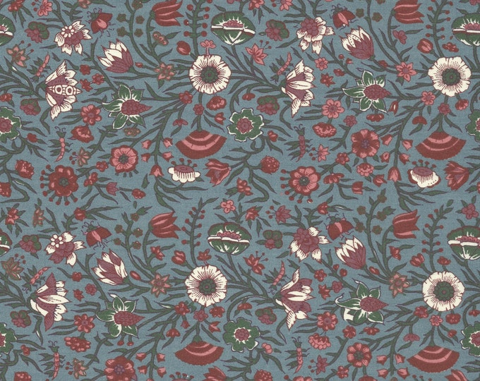 Dutch Chintz - Hindenlopen Pale Blue 1/2 yd