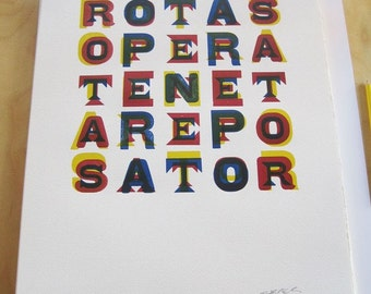 Sator Square - Wood Type Letterpress Print