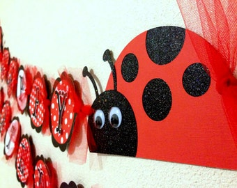 LadyBug Birthday Banner party decorations