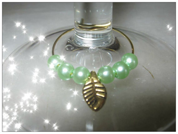 Beautiful Gold Wine Glass Charms - 4 in a Set by IreneDesign2011