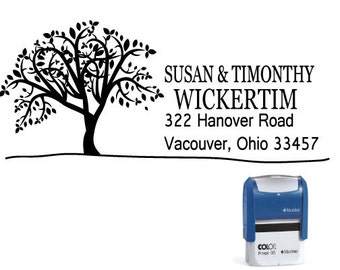 Custom Personalized Self Inking Return Address Stamp - Big Tree - SIA23