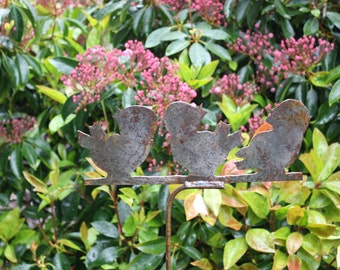 3 Singing Birds. Metal Garden Art