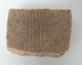 natural handmade Oatmeal with infused alkanet root powder soap bar