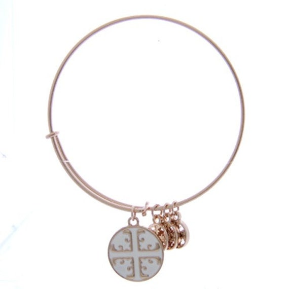 items similar to goldtone white cross alex and ani style