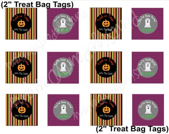 Personalized Halloween Treat bag Toppers