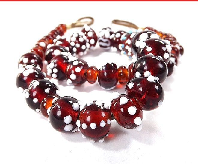 Glass Jewelry by TOAO: Brown Beads Necklace