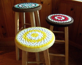 Bar Stool Cozy Colorful Cover For Wooden Stools Sunny