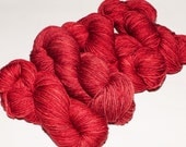 Riverside Merino 230 yard Hand-Dyed DK Yarn in Brick Red