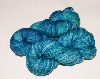 Westboro Merino/Cashmere/Nylon 400 yard Hand-Dyed Fingering Yarn in Lost at Sea
