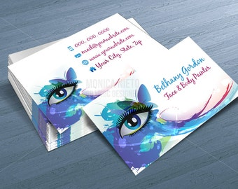 Custom Printable Face Painter Business Card Template