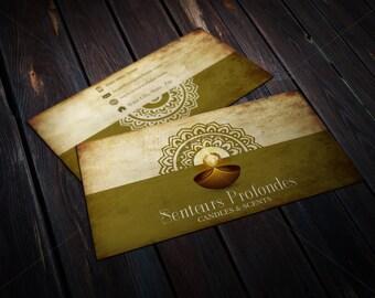 Custom Printable Candles & Scents Shop Business Card/ Candles Shop/ Fragrance oils