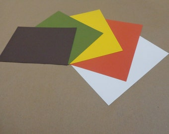"Fall 5""x7"" Assortment Cardstock Pop-Tone 25 pack (A)"
