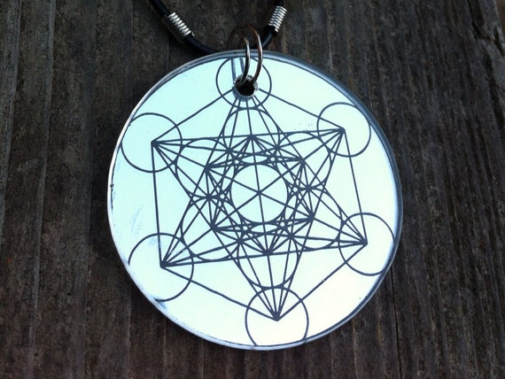 Metatron 39 s cube sacred geometry necklace pendent for Metatron s cube jewelry