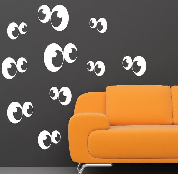 Wall Art Stickers Eyes : Halloween gost eyes decals stickers wall for kids rooms