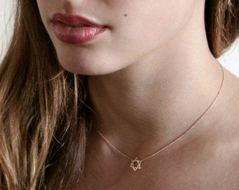Gold Star Of David Necklace - Delicate Star Of David - Magen David Necklace - Gold Star Of David - Jewish Star Necklace - Jewish Jewelry