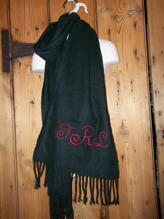 Personalized embroidered Scarf