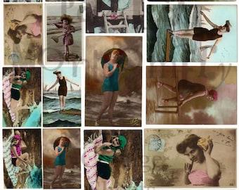 Bathing Beauties Number 2 Digital Download Collage Sheet