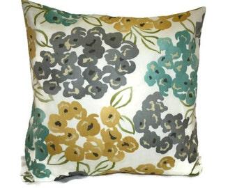 Decorative Robert Allen Floral Pillow Cover 12x16, 16x16, 18x18