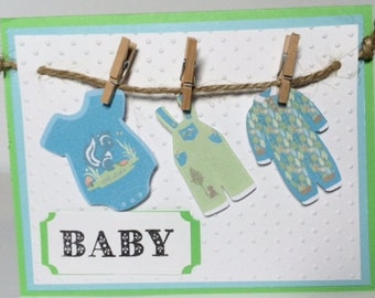 Bouncing Baby Boy Home made Card