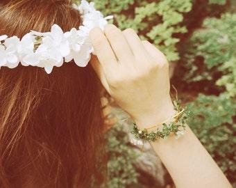 wedding flower bracelet accessories hand made green