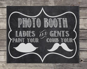 Instant Download - Chalkboard Wedding Sign