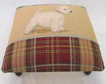 Corona Decor Co. Scotty Woven Footstool