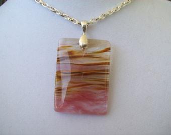 Cherry Quartz Stone Pendant