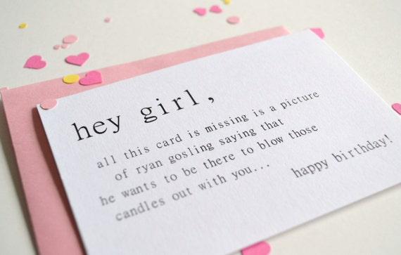 funny birthday card hey girl birthday card – Funny Girl Birthday Cards