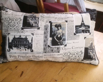 Black and white decorator pillows with leather piping SALE was 20.00