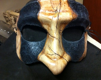 Leather half-mask
