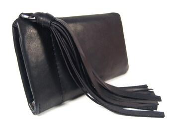 """Iphone Tasche Leder schwarz Iphone Hülle Leder Quaste Handy Accessoire Handytasche nach Maß Tasche Iphone """"Penny"""""""