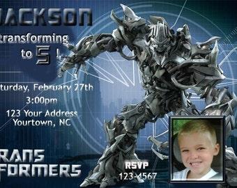 Transformers Birthday Party You Print Digital Invitation