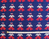 Vintage 70s Jaunty Sailors Double Knit Fabric