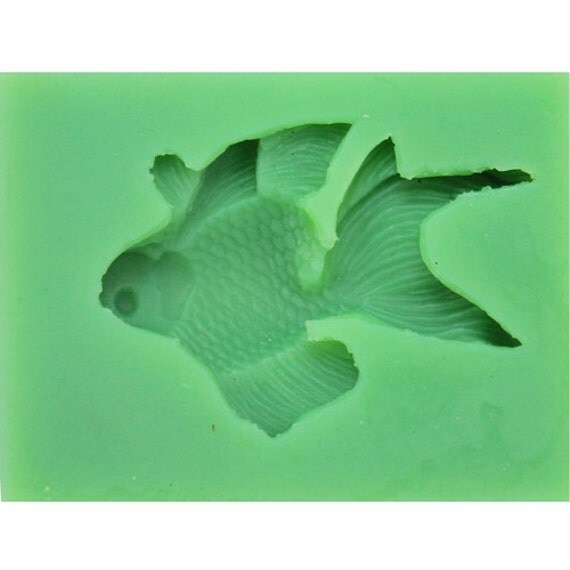 Goldfish flexible silicone mold candy mold chocolate mold for Silicone fish molds