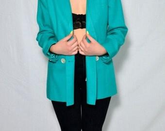 80's Turquoise Women's Blazer