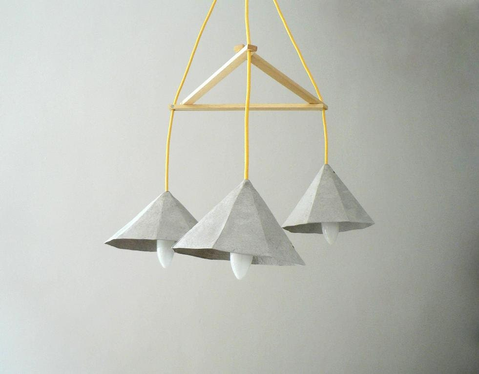 Paper Mache Lamp Crystals I Lamp Pendant Light By CreaReDesign