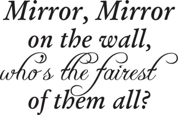 Mirror Mirror On The Wall Decal Sticker Family Art Graphic Home Decor Mural Part 44