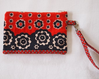 1960's Quilted Fabric Wristlet