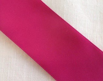 "5 Yards Hot Pink Satin Ribbon 1.5"", DIY Art and Craft, Bridal Accessory"