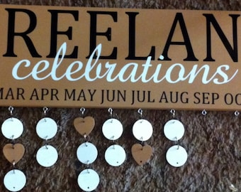Celebrations Family Birthday Board : STYLE 6