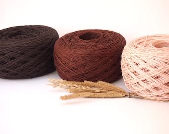 3 Balls, Natural Linen Yarn, High Quality, Linen Yarn For Crochet, Knitting, 300 g/10.5 oz