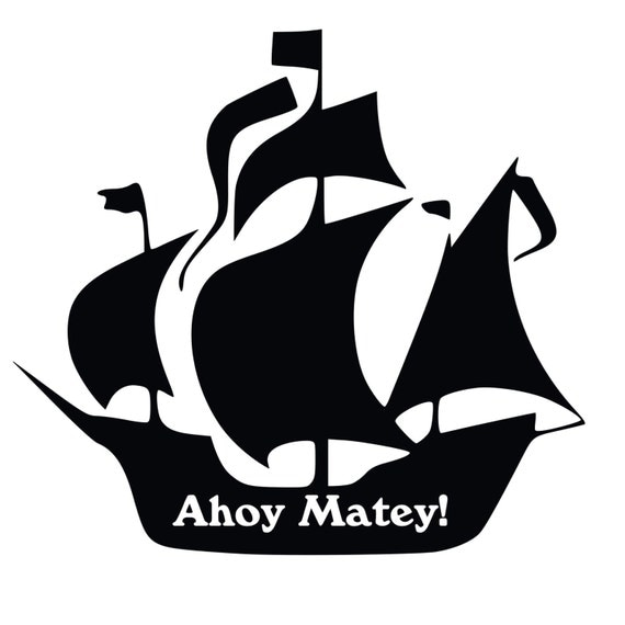 Items similar to Pirate Ship Silhouette Vinyl Decal on Etsy