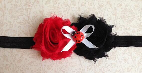 Knitting Ladybug Ladybird Headband : Items similar to lady bug headband halloween