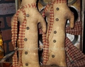 Made to Order Primitive Folk Art Gingerbread Doll--Tucks-Shelf Sitters-Winter, Christmas, Hafair Team, DTHFAAP