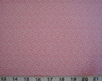 Troy, Pink and White Floral, Price per Half Yard