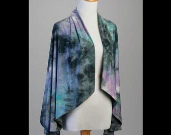 Black and Blue Tye Dye Wrap